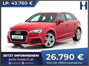 Audi A3 Sportback 35 TFSI Ultra Sport S-Line Aut. bei Autohaus Hösch GmbH in