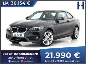BMW 218i Coupe Advantage bei Autohaus Hösch GmbH in