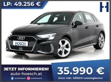 Audi A3 Sportback 35 TFSI 2xS-Line Aut. !Neues Modell! bei Autohaus Hösch GmbH in