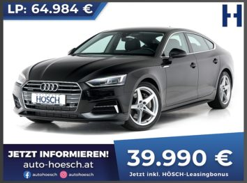Audi A5 Sportback 45 TFSI quattro Sport Aut. bei Autohaus Hösch GmbH in