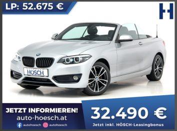 BMW 218d Cabrio Sport Line Aut. bei Autohaus Hösch GmbH in